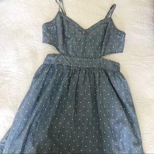 Polka Dot Cut Out Dress